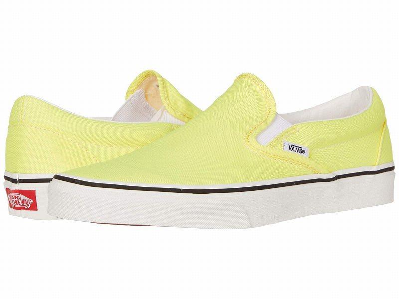 (取寄)Vans(バンズ) スニーカー クラシック スリップーオン ユニセックス メンズ レディース Vans Unisex Classic Slip (Neon) Lemon Tonic/True White