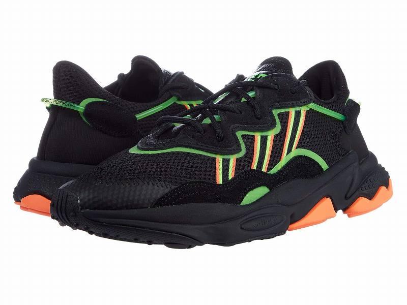 (取寄)アディダス オリジナルス メンズ アディダス オリジナル オズウィーゴ  adidas originals Men's adidas Originals Ozweego Core Black/Solar Green/Hi-Res Coral