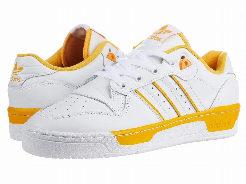 (取寄)アディダス オリジナルス メンズ アディダス オリジナル ライバルリ ロウ  adidas originals Men's adidas Originals Rivalry Low Footwear White/Footwear White/Active Gold