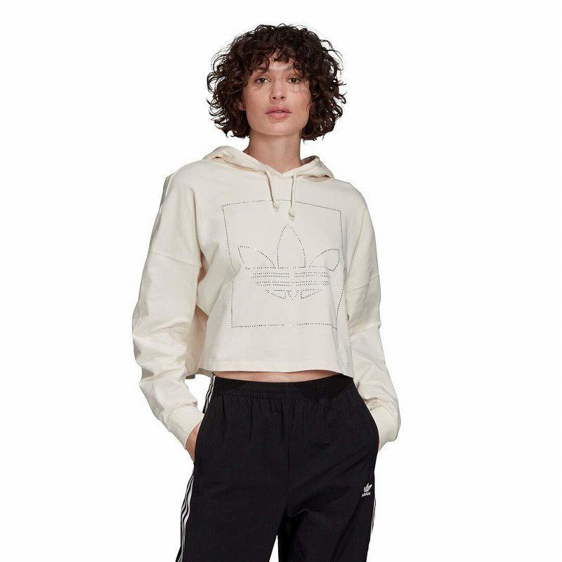 (取寄)アディダス オリジナルス レディース アディダス オリジナル FAEKT クロップ  パーカー adidas originals Women adidas Originals FAEKT Crop Hoodie English - EN