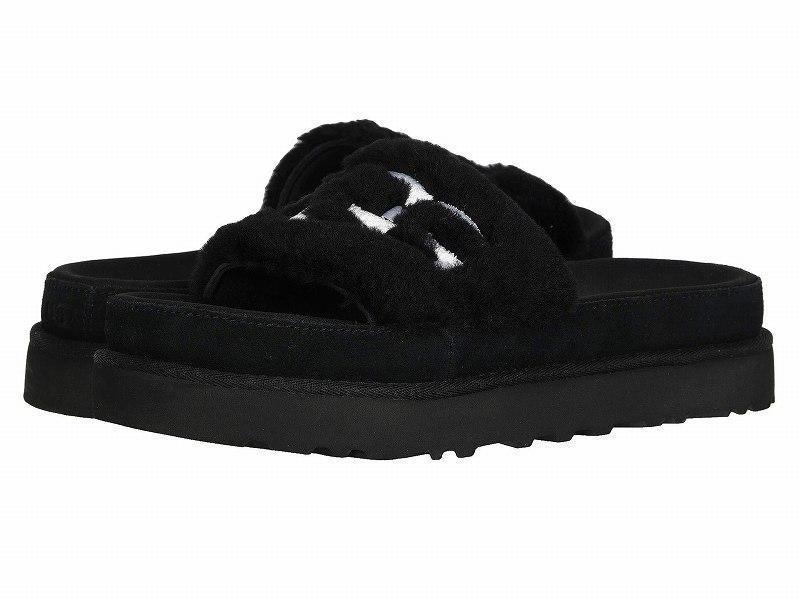 (取寄)アグ レディース ラトン ファー スライド  UGG Women Laton Fur Slide Black