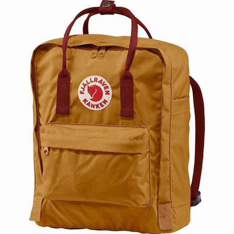 【エントリーでポイント5倍】(取寄) フェールラーベン ユニセックス カンケン 16L バックパック Fjallraven Men's Kanken 16L Backpack Acorn/Ox Red