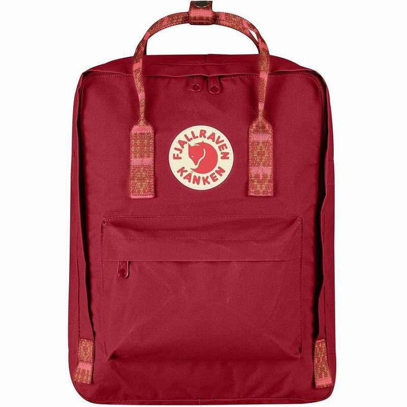 (取寄) フェールラーベン ユニセックス カンケン 16L バックパック Fjallraven Men's Kanken 16L Backpack Deep Red/Folk Pattern