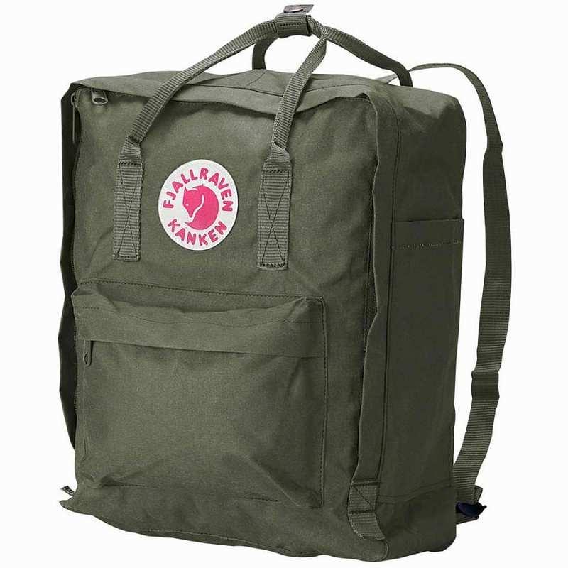 (取寄) フェールラーベン カンケン 16L バックパック リュック バッグ Fjallraven Men's Kanken 16L Backpack Forest Green