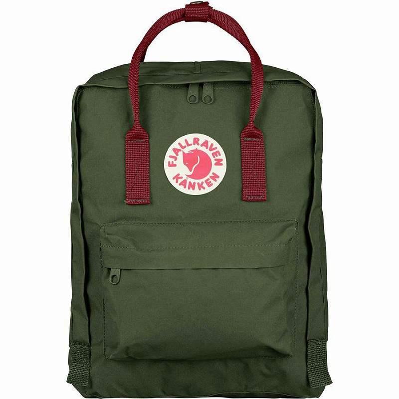 【エントリーでポイント5倍】(取寄) フェールラーベン ユニセックス カンケン 16L バックパック Fjallraven Men's Kanken 16L Backpack Forest Green/Ox Red