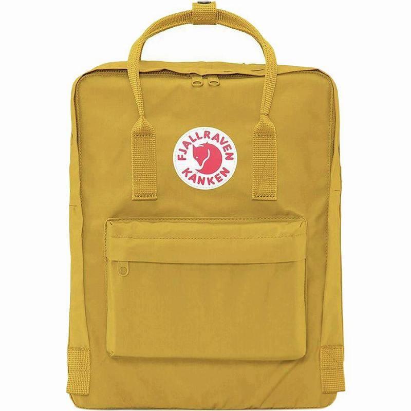 【エントリーでポイント5倍】(取寄) フェールラーベン ユニセックス カンケン 16L バックパック Fjallraven Men's Kanken 16L Backpack Ochre