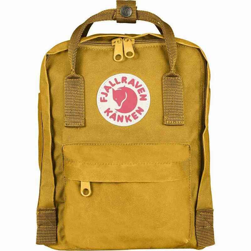 【エントリーでポイント5倍】(取寄) フェールラーベン ユニセックス カンケン ミニ 7L バックパック Fjallraven Men's Kanken Mini 7L Backpack Ochre