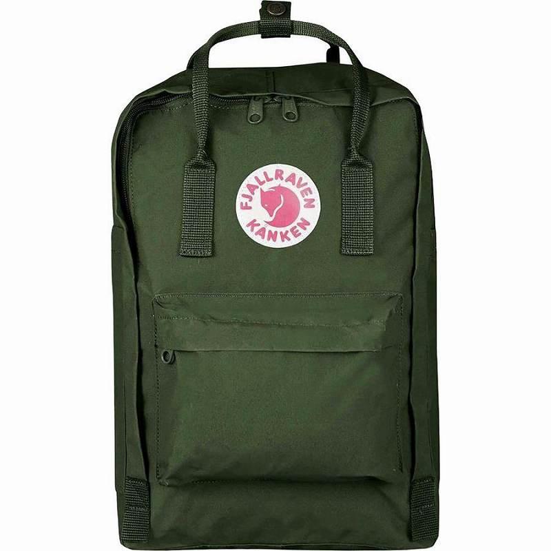 (取寄) フェールラーベン カンケン 15inラップトップ バックパック リュック バッグ Fjallraven Men's Kanken 15in Laptop Backpack Deep Forest