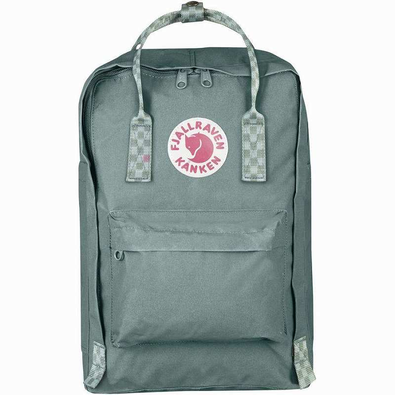 【エントリーでポイント5倍】(取寄) フェールラーベン ユニセックス カンケン 15inラップトップ バックパック Fjallraven Men's Kanken 15in Laptop Backpack Frost Green/Chess Pattern