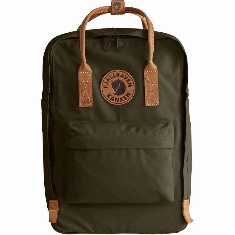(取寄) フェールラーベン カンケン No.215inラップトップ バックパック リュック バッグ Fjallraven Men's Kanken No.2 15in Laptop Backpack Dark Olive
