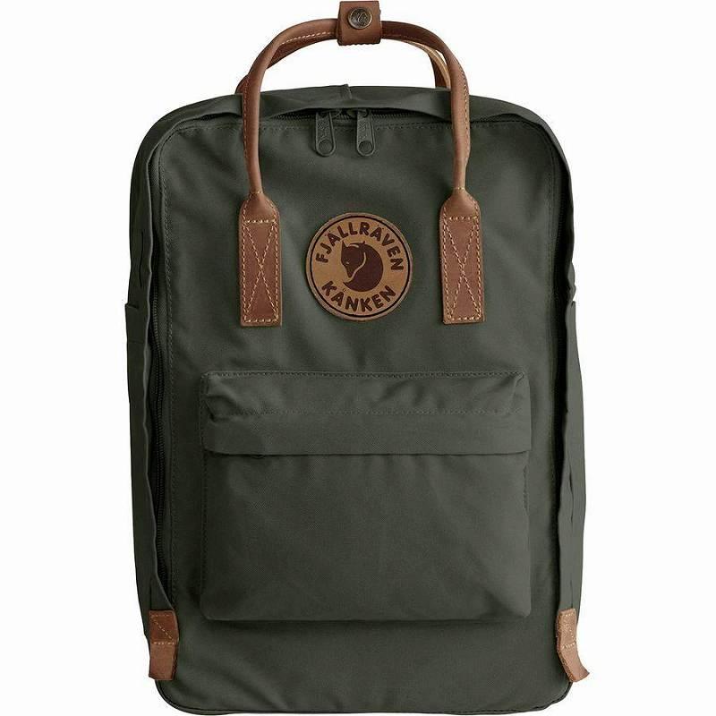 【エントリーでポイント5倍】(取寄) フェールラーベン ユニセックス カンケン No.215inラップトップ バックパック Fjallraven Men's Kanken No.2 15in Laptop Backpack Deep Forest