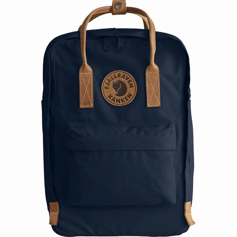 【エントリーでポイント5倍】(取寄) フェールラーベン ユニセックス カンケン No.215inラップトップ バックパック Fjallraven Men's Kanken No.2 15in Laptop Backpack Navy