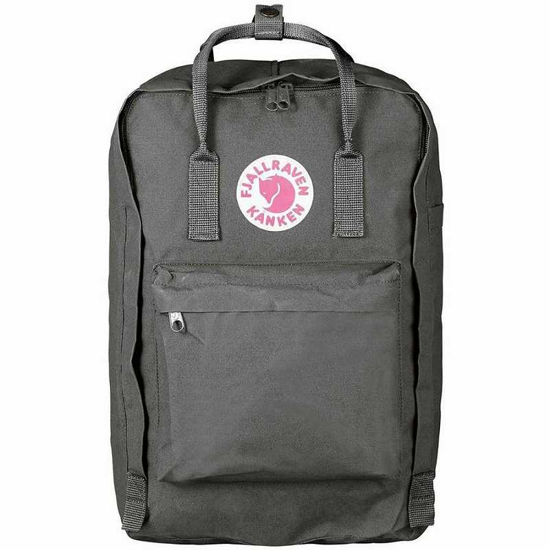 【エントリーでポイント5倍】(取寄) フェールラーベン ユニセックス カンケン ラップトップ 17in バックパック Fjallraven Men's Kanken Laptop 17in Backpack Super Grey
