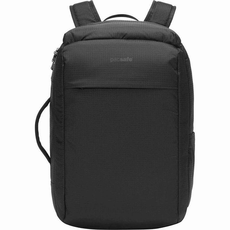 【エントリーでポイント5倍】(取寄)パックセーフ ユニセックス ヴァイブ 28L バックパック Pacsafe Men's Vibe 28L Backpack Jet Black