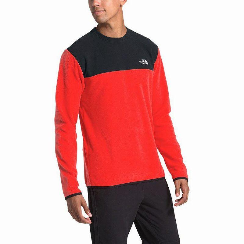 (取寄)ノースフェイス メンズ グレイシャー クルー トレーナー プルオーバー The North Face Men's Glacier Crew Sweatshirt Pullover Fiery Red/Tnf Black