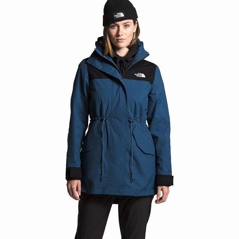 (取寄)ノースフェイス レディース メトロビュー トレンチ コート The North Face Women Metroview Coat Trench Shady Blue/Tnf Black