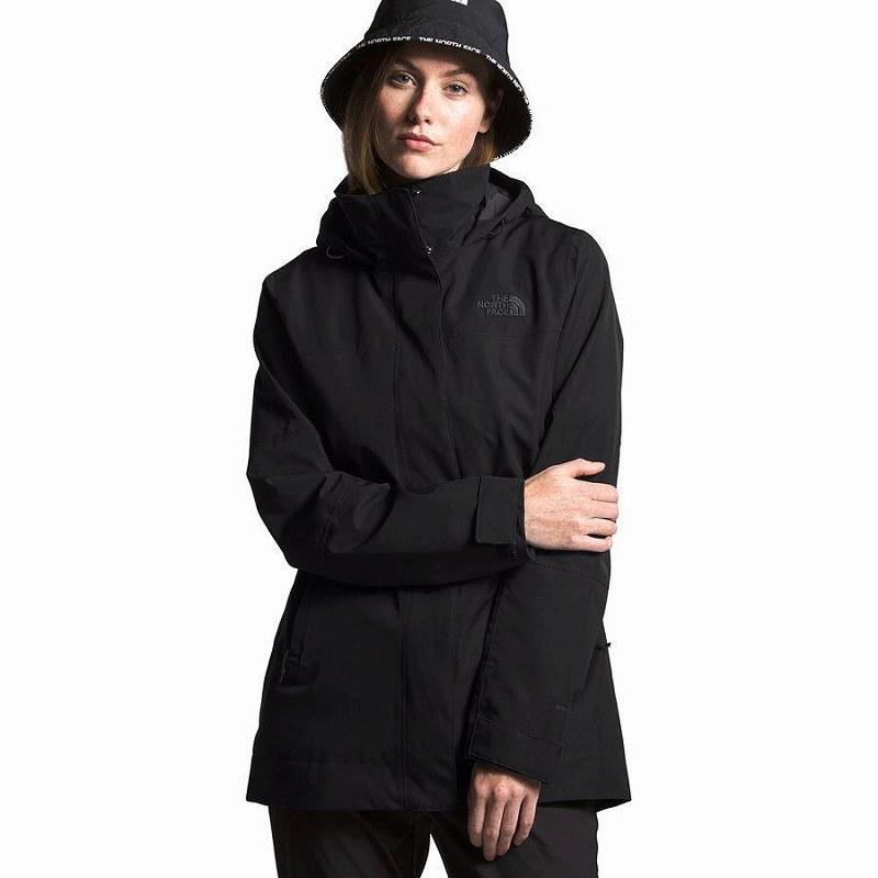 (取寄)ノースフェイス レディース ウェストオーク シティ トレンチ コート The North Face Women Westoak City Coat Trench Tnf Black