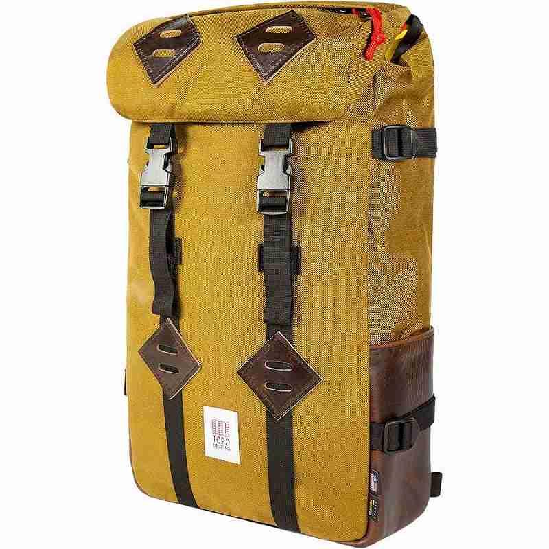 【クーポンで最大2000円OFF】(取寄)トポデザイン ユニセックス クレッターサック 25L バックパック Topo Designs Men's Klettersack 25L Backpack Duck Brown/Dark Brown Leather