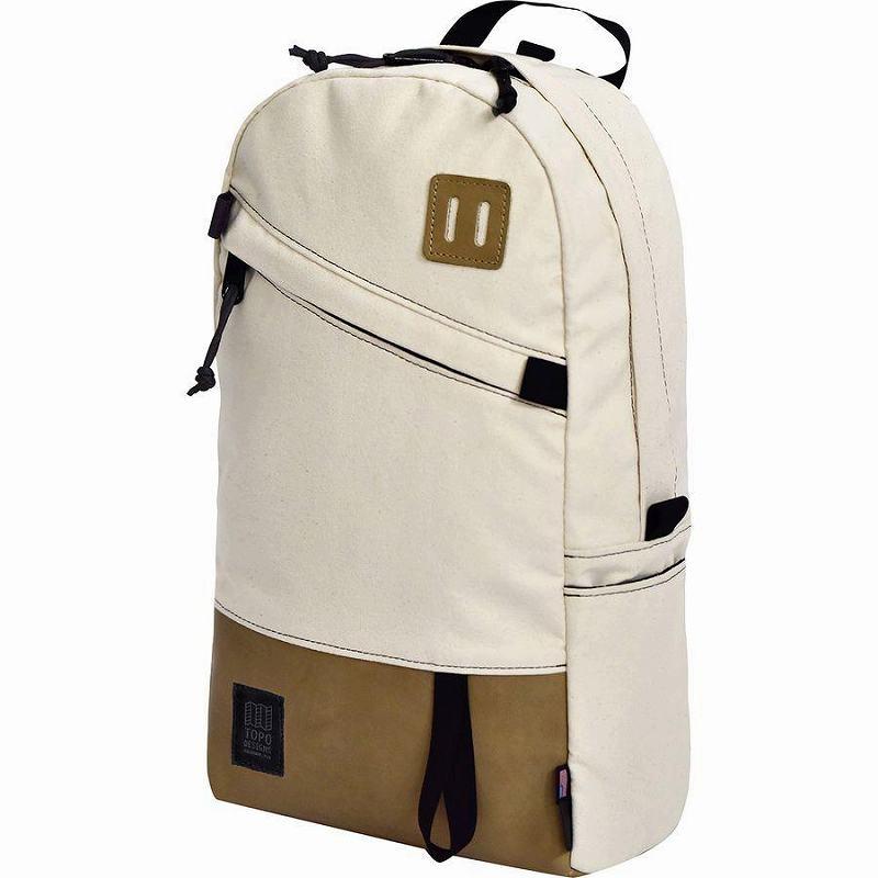 (取寄)トポデザイン ユニセックス デイパック 20L バックパック Topo Designs Men's Daypack 20L Backpack Natural/Khaki Leather