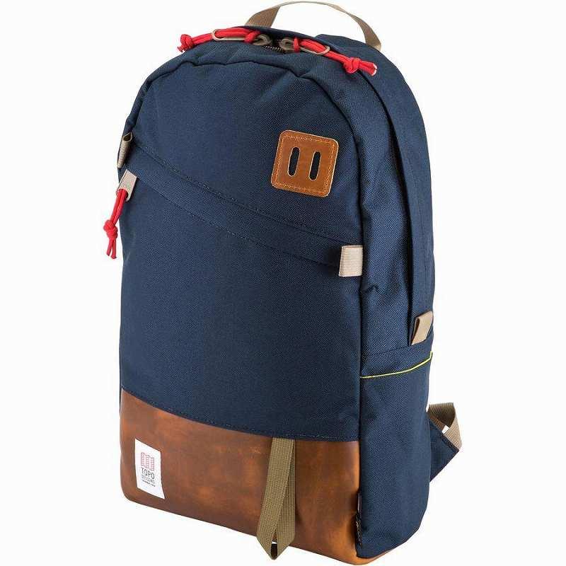 (取寄)トポデザイン ユニセックス デイパック 20L バックパック Topo Designs Men's Daypack 20L Backpack Navy/Leather