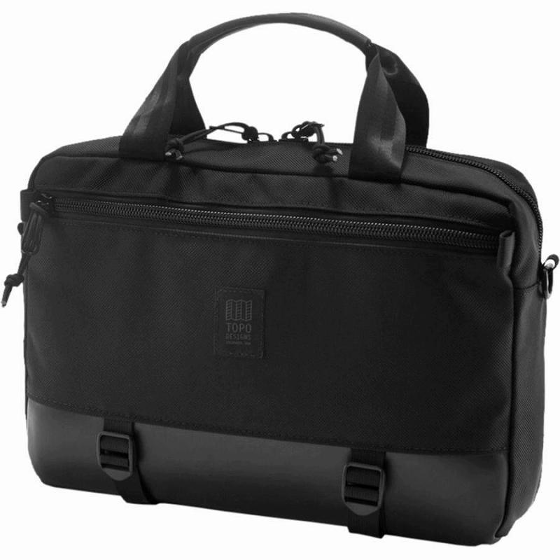 【エントリーでポイント5倍】(取寄)トポデザイン ユニセックス コミューター 13L ブリーフケース Topo Designs Men's Commuter Briefcase Ballistic Black/Black Leather