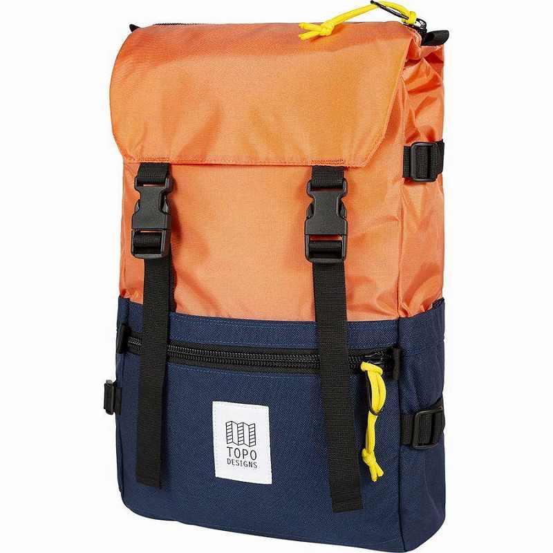 (取寄)トポデザイン ユニセックス ローバー 20L バックパック Topo Designs Men's Rover 20L Backpack Coral/Navy