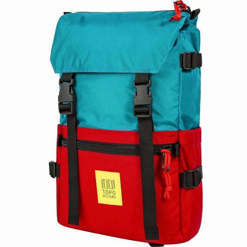(取寄)トポデザイン ユニセックス ローバー 20L バックパック Topo Designs Men's Rover 20L Backpack Turquoise/Red