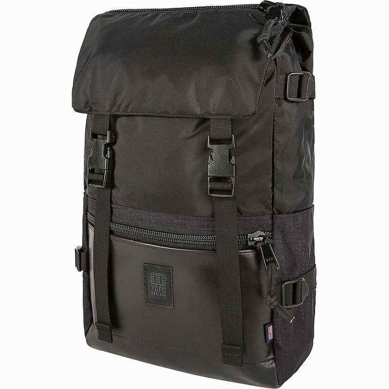(取寄)トポデザイン ユニセックス ローバー 20L パック Topo Designs Men's Rover 20L Pack Ballistic Black/Black Leather