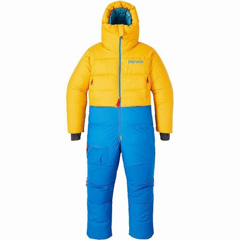 【クーポンで最大2000円OFF】(取寄)マーモット メンズ Warmcube 8000M スーツ Marmot Men's Warmcube 8000M Suit Solar/Clear Blue