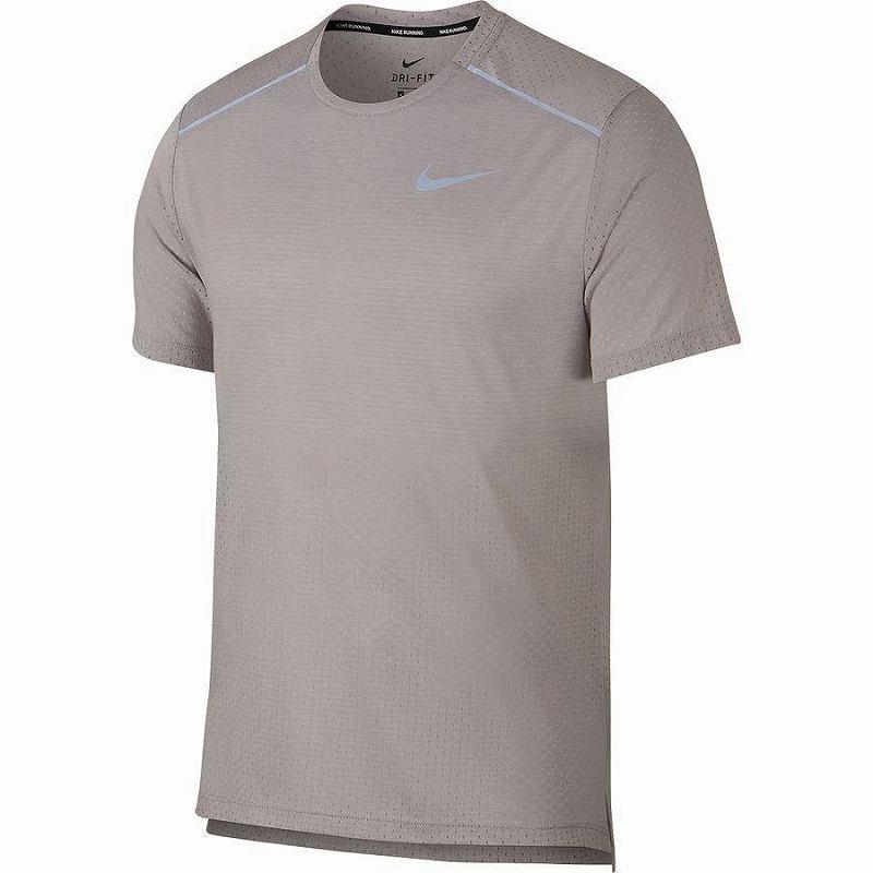 【クーポンで最大2000円OFF】(取寄)ナイキ メンズ ブリーズ ライズ 365ショートスリーブ トップ Nike Men's Breathe Rise 365 Short-Sleeve Top Atmosphere Grey/Heather/Reflective Silver