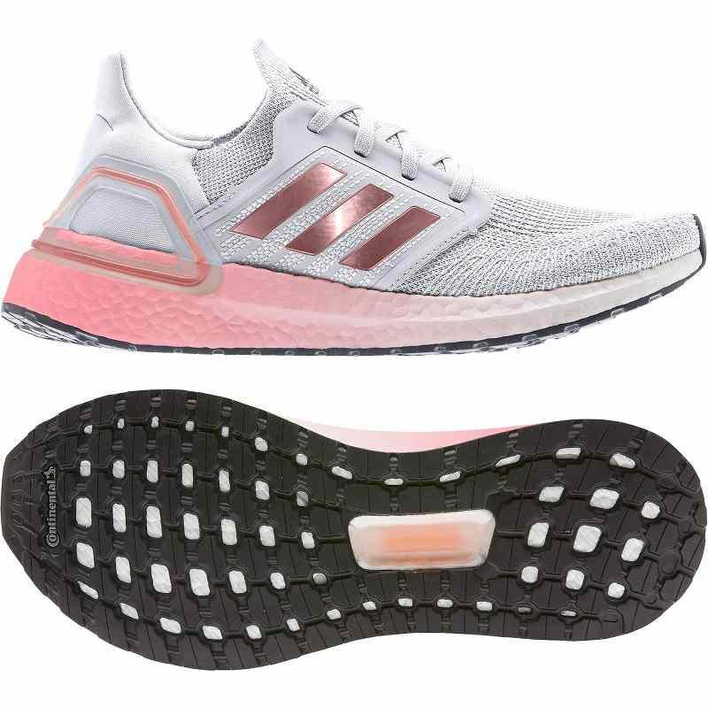 【クーポンで最大2000円OFF】(取寄)アディダス レディース ウルトラブースト 20 ランニングシューズ adidas Women Running Ultraboost 20 Crystal White/Copper Metallic/Light Flash Red