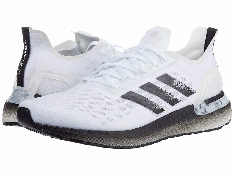 【クーポンで最大2000円OFF】(取寄)アディダス メンズ ランニング ウルトラブースト PB ランニングシューズ adidas Men's Running Ultraboost PB White/Black/Dash Grey