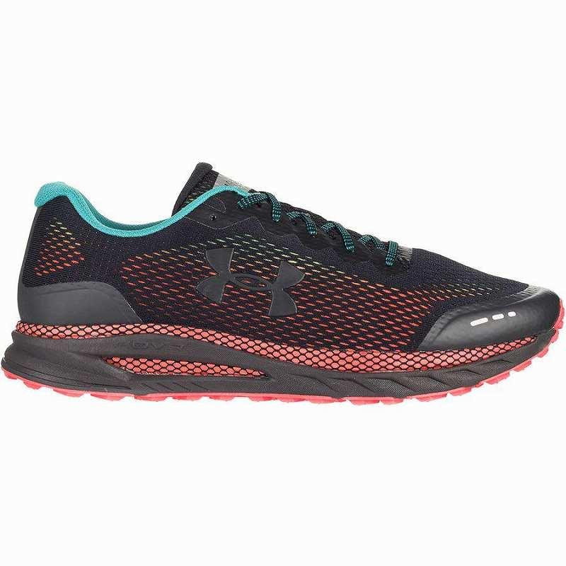 【クーポンで最大2000円OFF】(取寄)アンダーアーマー メンズ ホバー ベロシティー トレイル シューズ Under Armour Men's HOVR Velociti Trail Shoe Black/Beta Red/Black