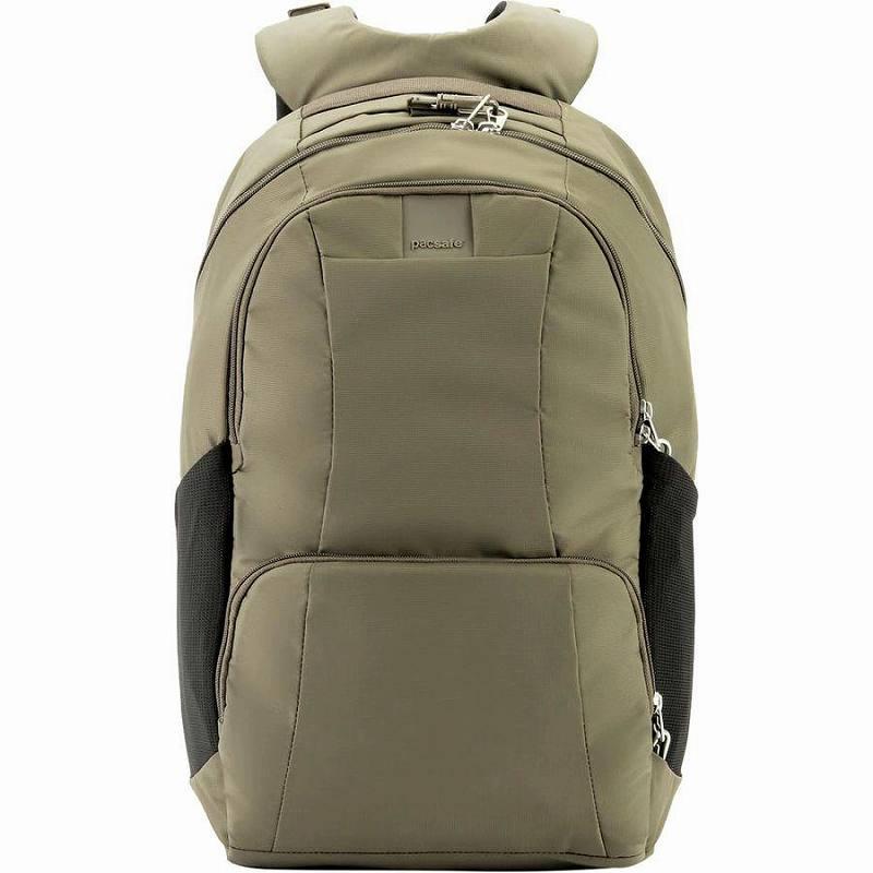 (取寄)パックセーフ メトロセーフ LS450 25L バックパック リュック バッグ Pacsafe Men's Metrosafe LS450 25L Backpack Earth Khaki