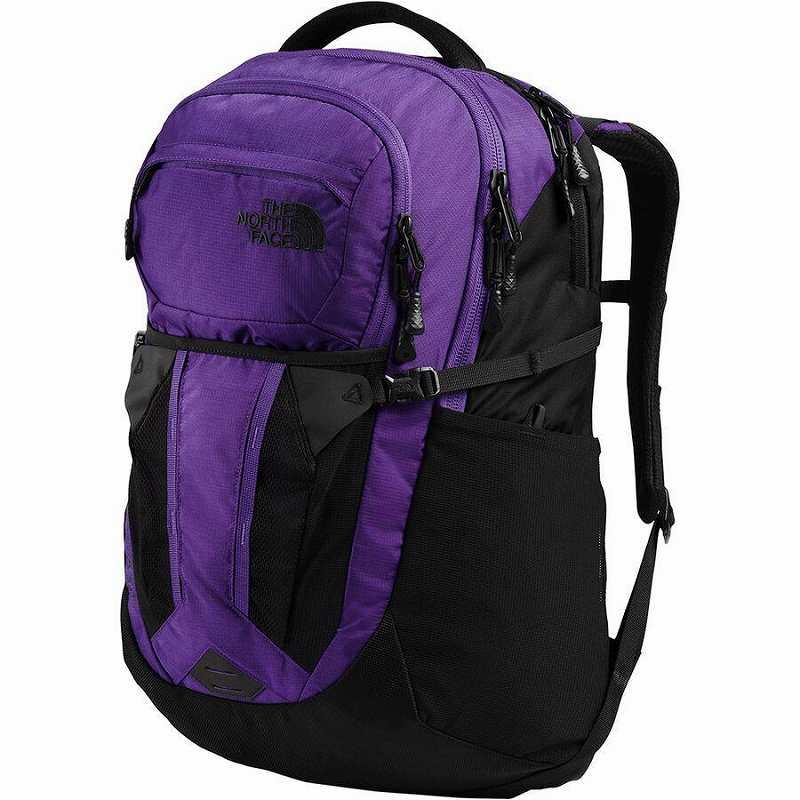 (取寄)ノースフェイス レディース リーコン 30L バックパック リュック バッグ The North Face Women Recon 30L Backpack Peak Purple Ripstop/TNF Black