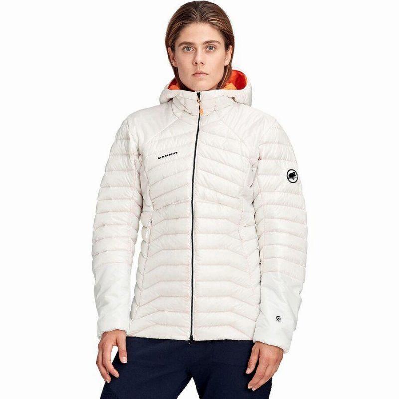 (取寄)マムート レディース アイガーヨッホ アドバンスド イン フーデッド ダウン ジャケット Mammut Women Eigerjoch Advanced IN Hooded Down Jacket Bright White