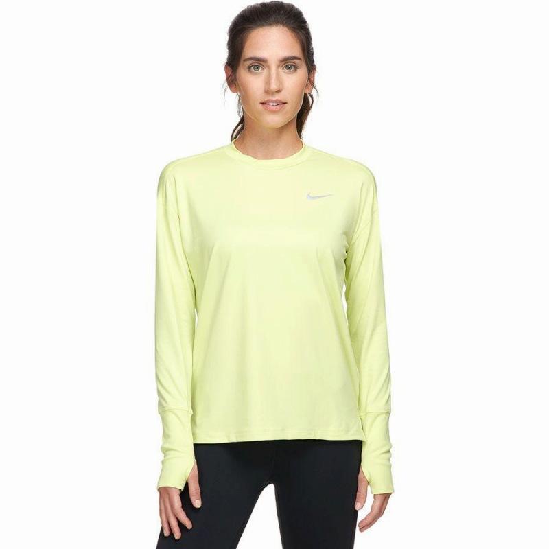 (取寄)ナイキ レディース エレメント トップ クルー Nike Women Element Top Crew Limelight/Reflective Silver