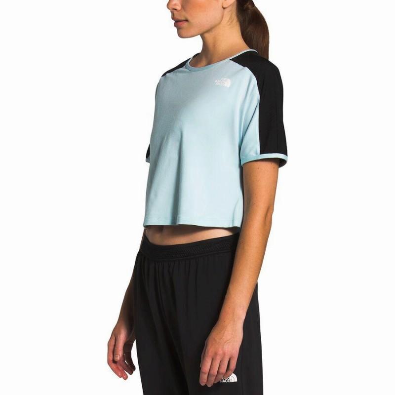 (取寄)ノースフェイス レディース アックティブ トレイル トップ The North Face Women Active Trail Short-Sleeve Top Starlight Blue