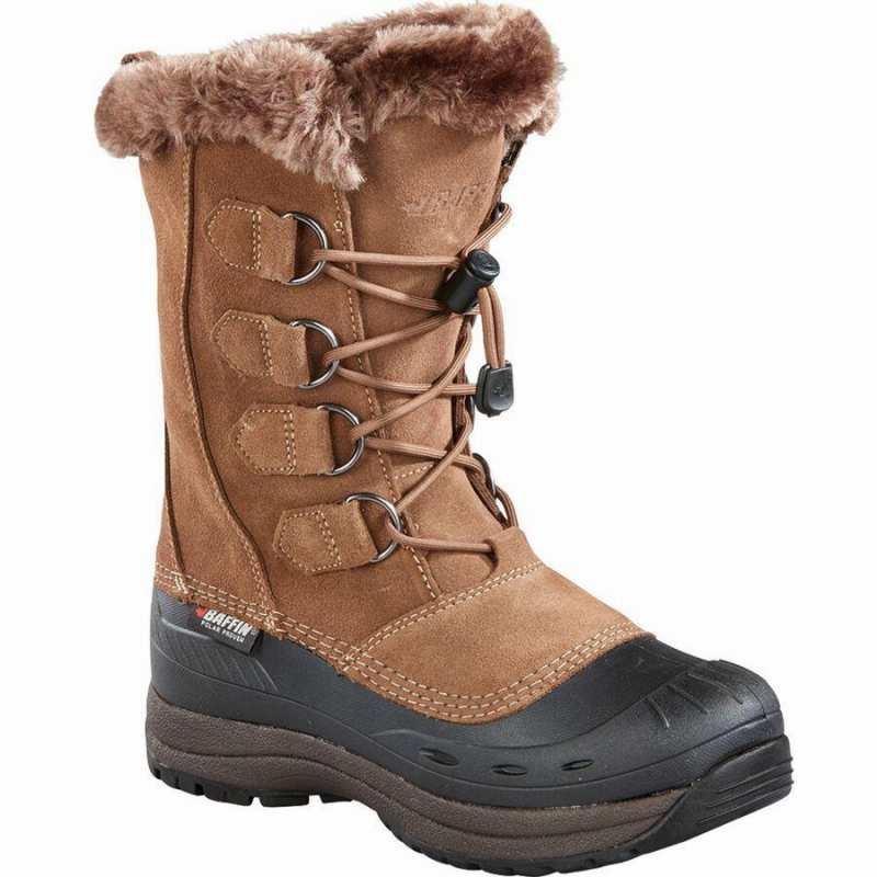 (取寄)バフィン レディース クロエ ウィンター ブーツ Baffin Women Chloe Winter Boot Taupe