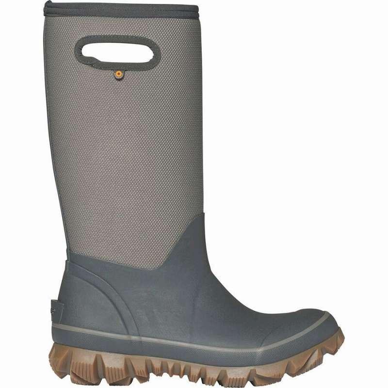 (取寄)ボグス レディース ホワイトアウト ウーヴン ブーツ Bogs Women Whiteout Woven Boot Dark Gray