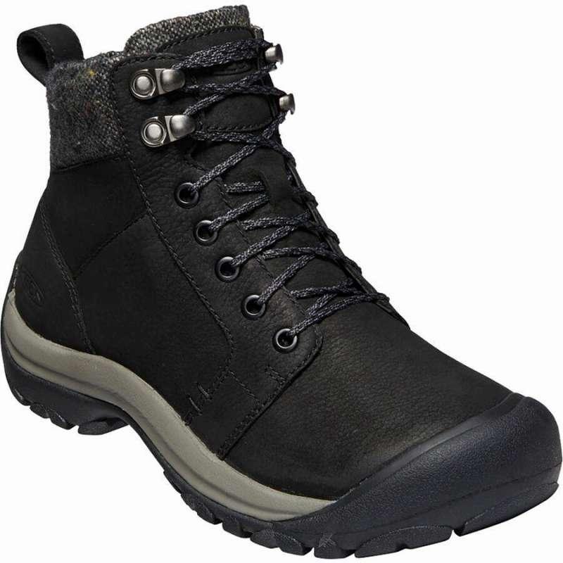 (取寄)キーン レディース ケーシー 2 ウィンター ミッド WP シューズ KEEN Women Kaci II Winter Mid WP Shoe Black/Steel Grey