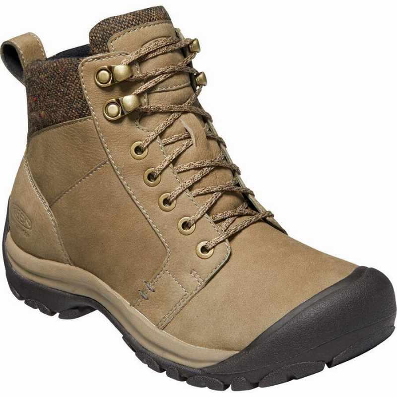 (取寄)キーン レディース ケーシー 2 ウィンター ミッド WP シューズ KEEN Women Kaci II Winter Mid WP Shoe Timberwolf/Brindle