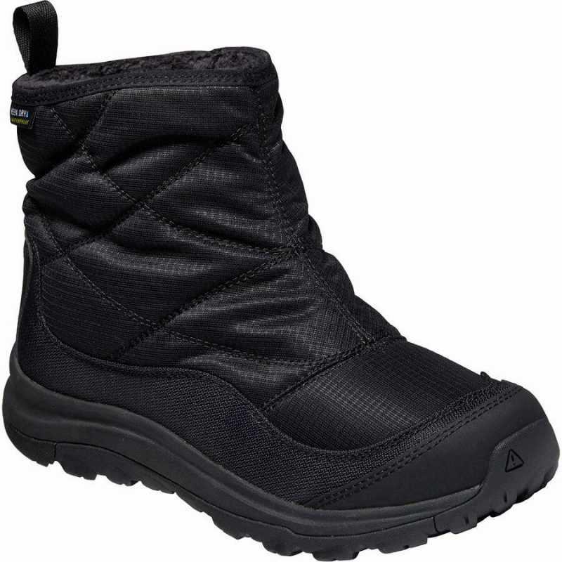 (取寄)キーン レディース テラドーラ 2 アンクル Pull-OnWP ブーツ KEEN Women Terradora II Ankle Pull-On WP Boot Black/Black