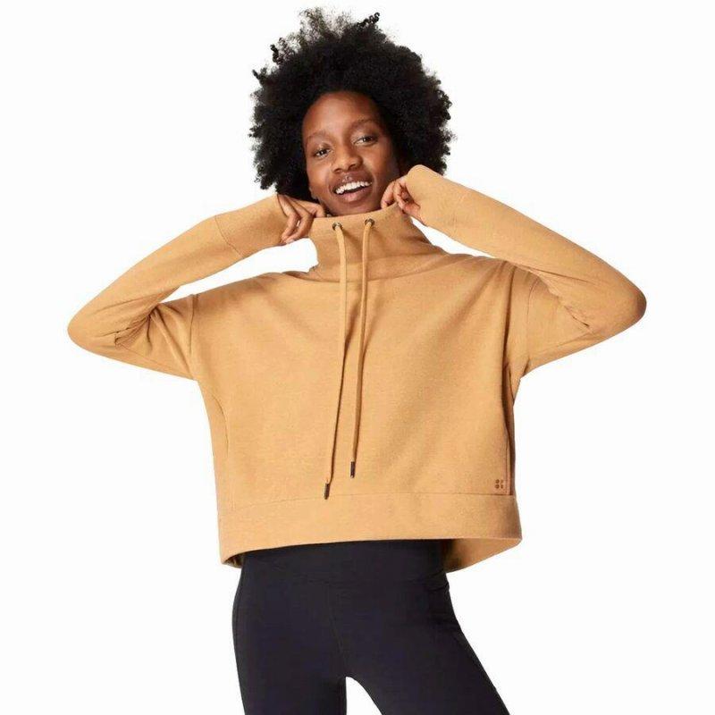 ファッション ブランド カジュアル ストリート アウトドア トレーナー トップス スウェットシャツ レディース 大きいサイズ 取寄 OUTLET SALE スウェッティベティ Sweatshirt Luxe 正規取扱店 Brown Sweaty Camel リュクス Women Betty ハーモナイズ Harmonise