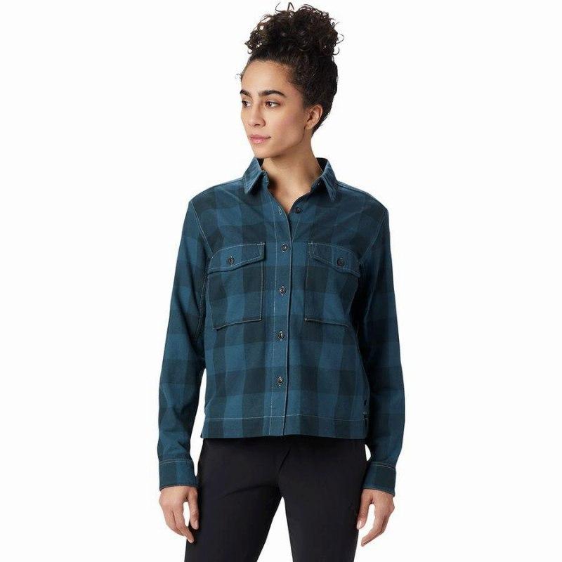 【即納!最大半額!】 (取寄)マウンテンハードウェア レディース モアリ シャツ ジャケット Mountain Hardwear Women Moiry Shirt Jacket Blue Spruce, ブランド古着 フルフルマーケット d37c1fe6