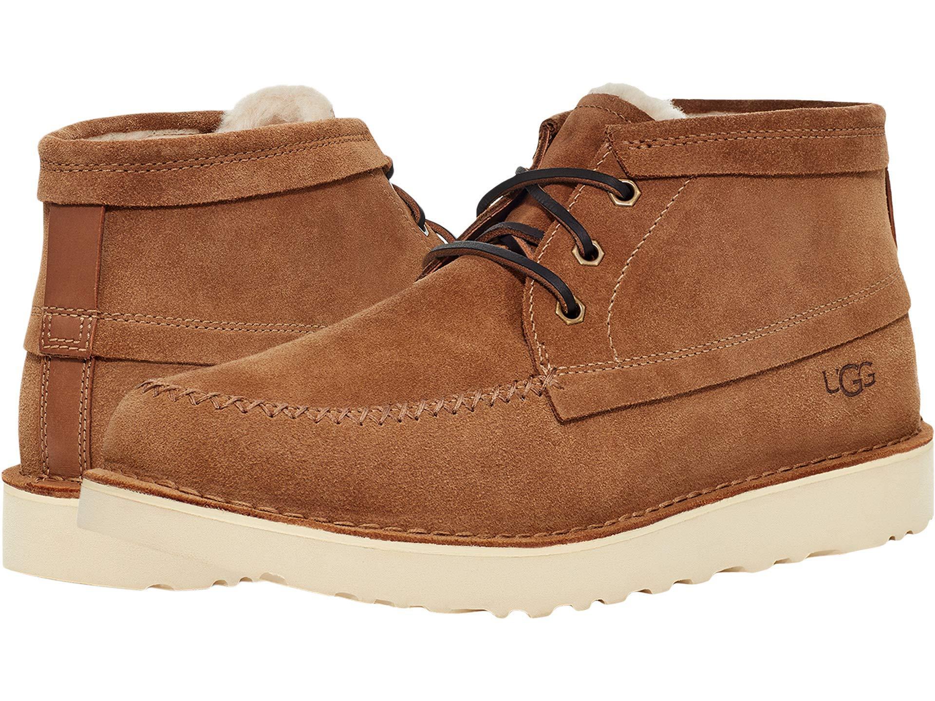 正規品 靴 シューズ ブーツ ショートブーツ 革 レザー メンズ 半額 大きいサイズ ビッグサイズ Campout UGG 取寄 Chukka Chestnut アグ 輸入 Men's チャッカ キャンプアウト