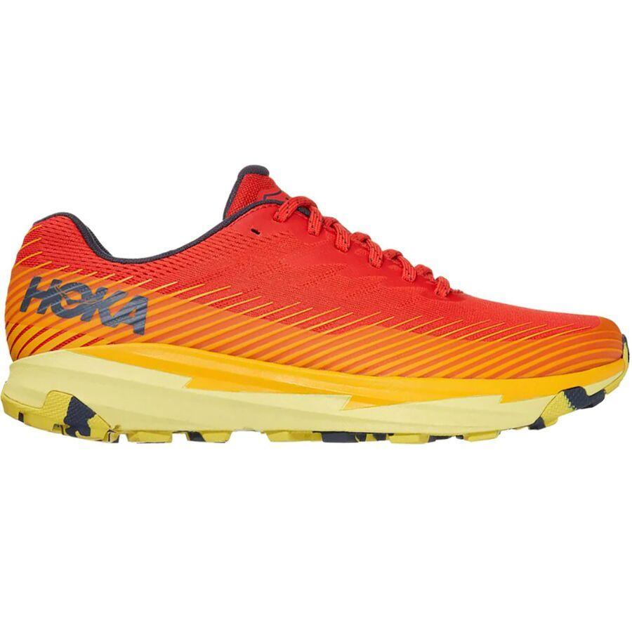 (取寄)ホカ オネ オネ メンズ トレント 2 トレイル ランニング シューズ HOKA ONE ONE Men's Torrent 2 Trail Running Shoe Running Shoes Fiesta/Saffron