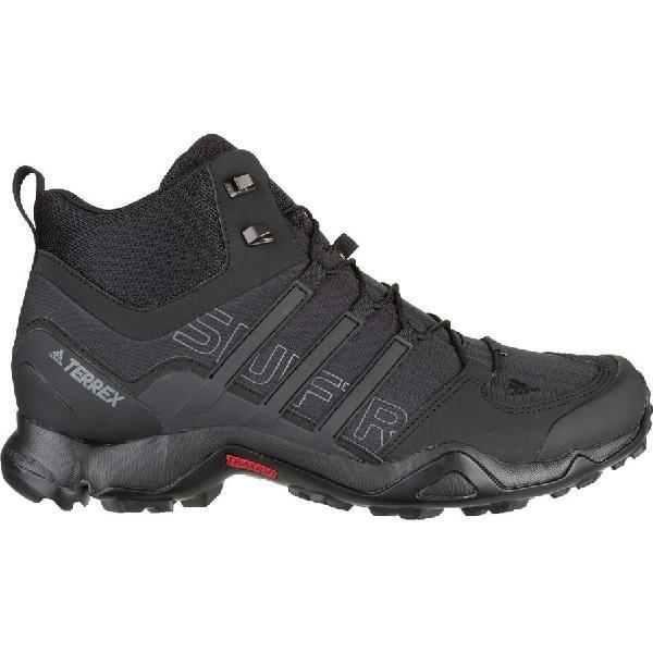 (取寄)アディダス メンズ アウトドア テレックス スウィフト Rミッド ハイキング ブーツ Adidas Men's Outdoor Terrex Swift R Mid Hiking Boot Black/Black/Dark Grey