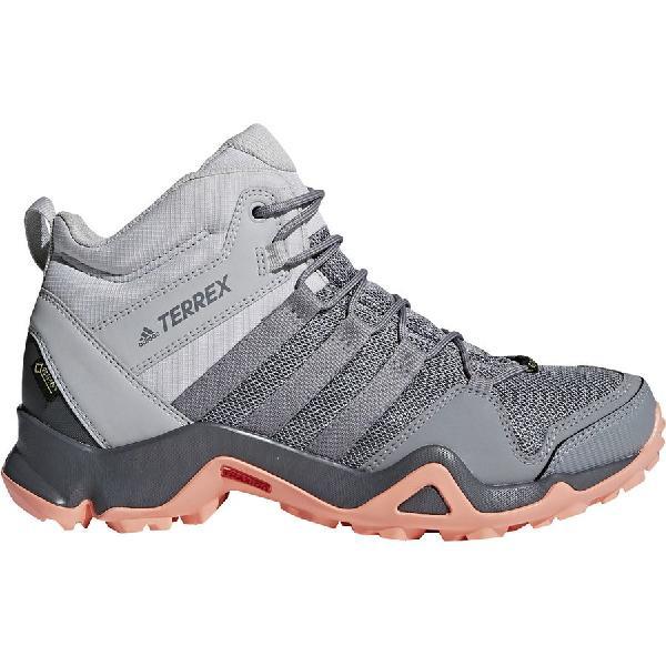 (取寄)アディダス レディース アウトドア テレックス AX2R ミッド Gtx ハイキング ブーツ Adidas Women Outdoor Terrex AX2R Mid GTX Hiking Boot Grey Two/Grey Three/Chalk Coral