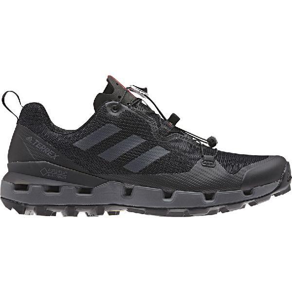 (取寄)アディダス メンズ アウトドア テレックス ファスト Gtx サラウンド ハイキングシューズ Adidas Men's Outdoor Terrex Fast GTX Surround Hiking Shoe Black/Grey Five/Hi-res Red
